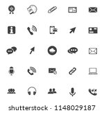 vector communication icons  ... | Shutterstock .eps vector #1148029187