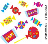 halloween candy | Shutterstock .eps vector #114803065