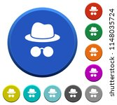 incognito with glasses round... | Shutterstock .eps vector #1148035724