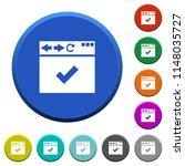 browser ok round color beveled... | Shutterstock .eps vector #1148035727