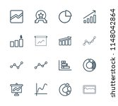 graph icon. collection of 16... | Shutterstock .eps vector #1148042864