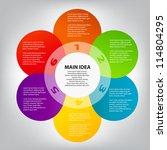 concept of colorful circular... | Shutterstock .eps vector #114804295
