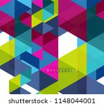 multicolored triangles abstract ... | Shutterstock .eps vector #1148044001