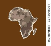sketch african continent banner....   Shutterstock .eps vector #1148045084