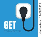 icon of an electric socket with ... | Shutterstock .eps vector #1148055191