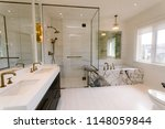 interior of bathroom in... | Shutterstock . vector #1148059844