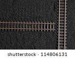 railroad tracks is not linked up | Shutterstock . vector #114806131