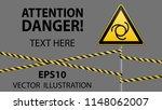 safety sign. caution   danger ... | Shutterstock .eps vector #1148062007