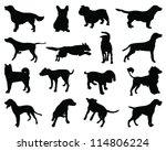 silhouettes dog breeds vector | Shutterstock .eps vector #114806224