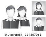 the default avatar  user... | Shutterstock .eps vector #114807061