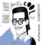 one day you'll be cool... | Shutterstock .eps vector #1148070737