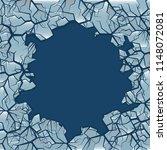 cracked ice background. winter... | Shutterstock .eps vector #1148072081