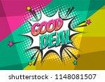 good deal  sale burst wow comic ... | Shutterstock .eps vector #1148081507