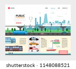 flat city transport landing... | Shutterstock .eps vector #1148088521