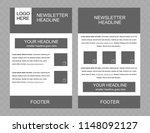 newsletter vector layout...   Shutterstock .eps vector #1148092127