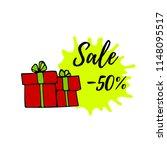 vector illustration. sale offer ... | Shutterstock .eps vector #1148095517