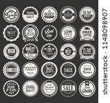 retro vintage badges and labels ... | Shutterstock .eps vector #1148098907