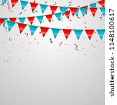 celebration background with red ... | Shutterstock .eps vector #1148100617