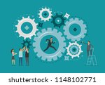 business infographic. teamwork  ... | Shutterstock .eps vector #1148102771