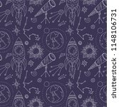 seamless vector pattern with... | Shutterstock .eps vector #1148106731