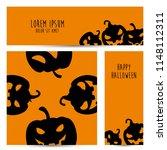 simple halloween pumpkin vector ... | Shutterstock .eps vector #1148112311