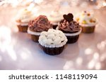 delicious cupcakes yummy white... | Shutterstock . vector #1148119094