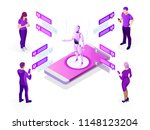 isometric artificial... | Shutterstock .eps vector #1148123204