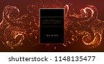glowing particles liquid... | Shutterstock .eps vector #1148135477