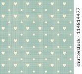 Seamless Hearts Polka Dot...