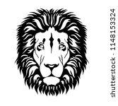 head of  lion in vintage... | Shutterstock .eps vector #1148153324
