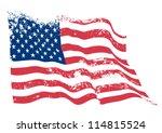 usa american grunge flag. | Shutterstock .eps vector #114815524