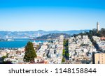 coit tower and san francisco... | Shutterstock . vector #1148158844