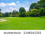 panorama view of golf course... | Shutterstock . vector #1148161331