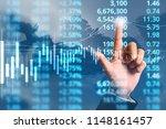 businessman plan graph growth...   Shutterstock . vector #1148161457