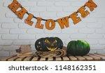 decorations for halloween... | Shutterstock . vector #1148162351