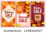 autumn sale vector poster... | Shutterstock .eps vector #1148164427
