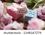 happy birthday. gift. | Shutterstock . vector #1148167274