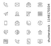 contact us icons. simple flat... | Shutterstock .eps vector #1148170334