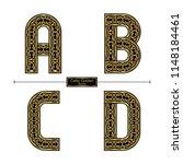 vector graphic alphabet in a... | Shutterstock .eps vector #1148184461