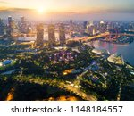 aerial view of the singapore... | Shutterstock . vector #1148184557