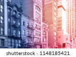 new york city buildings in... | Shutterstock . vector #1148185421