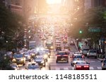 crosstown traffic on 42nd... | Shutterstock . vector #1148185511