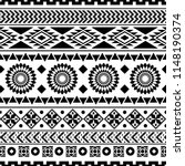 seamless ethnic pattern design. ... | Shutterstock .eps vector #1148190374