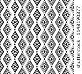seamless ethnic pattern design. ... | Shutterstock .eps vector #1148190377
