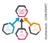 creative modern hexagon...   Shutterstock .eps vector #1148190497