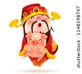 chinese god of wealth and... | Shutterstock .eps vector #1148198747