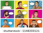 comic man vector popart cartoon ... | Shutterstock .eps vector #1148203121