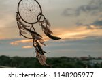 dream catcher on the sunset... | Shutterstock . vector #1148205977