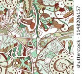 tracery seamless pattern.... | Shutterstock .eps vector #1148206157