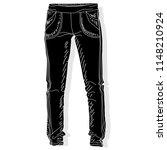 sport trousers. sport pants...   Shutterstock .eps vector #1148210924